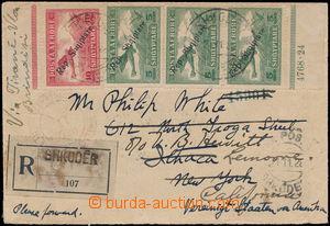 167011 - 1928 R+Let-dopis do USA (!) vyfr. leteckými zn. Mi.144 (3x)