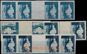 1941 Mi 48, Krajiny 0,50K, 1x zoubkované svislé 2-zn  meziarší + 2x svislé  nezoubkované
