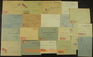 167118 - 1945 sestava 20ks R-dopisů vyplacených v hotovosti, s proviz