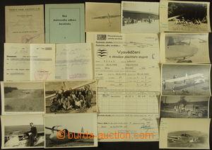 167199 - 1945-1947 AEROKLUB BRNO  zajímavý konvolut dokumentů, obsahu