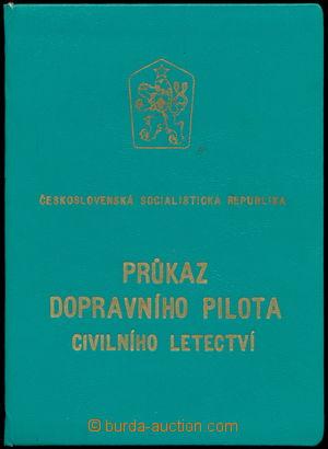 167200 - 1969 LETECTVÍ  průkaz dopravního pilota civilního letectví;