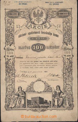 167203 - 1871 RAKOUSKO-UHERSKO Akcie akciové společnosti Besedního