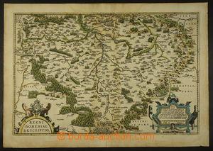 167221 - 1568-75 ORTELIUS ABRAHAM - MAPA ČESKÉHO KRÁLOVSTVÍ s měřítke