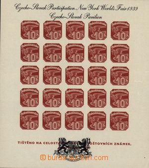 167240 - 1939 Exilové vydání, Pof.AS2a, novinový aršík Pof.ANV18, čer