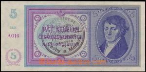 167265 - 1939 Ba.29, 5K ruční přetisk, série A016