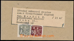 167326 - 1945 address cut from cover parcel 15 pieces newspapers, fra