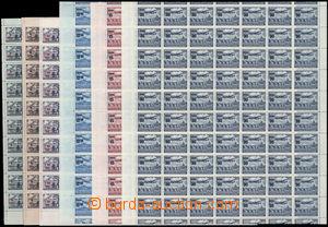 167356 - 1949 Pof.L26-L28, L30-L32, Přetiskové provizorium, neúpln