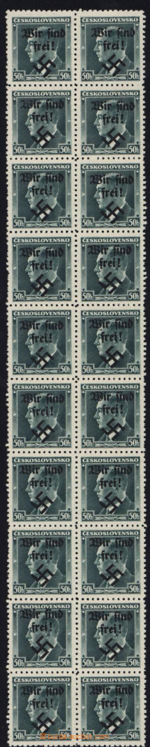 167375 - 1938 RUMBURG  Mi.7, Beneš 50h s přetiskem Wir sind frei!, sv