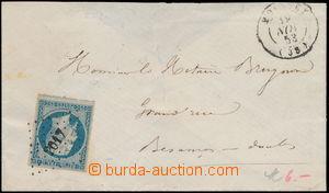 167455 - 1852 dopis s Mi.9a, Napoleon III. 25c modrá, vydání s B v me