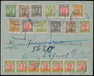 167462 - 1922 dopis do Erfurtu, se zcela mimořádnou frankaturou vydán