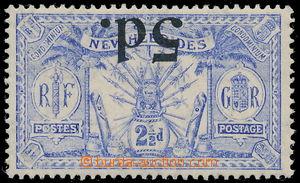 167471 - 1924 SG.42a, přetiskové vydání Zbraně a idoly 5P na 2½P