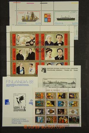 167531 - 1940-2000 [SBÍRKY]  sbírka aršíků s různými motivy ve 3 zapl