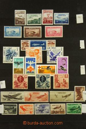 167533 - 1920-70 [SBÍRKY]  sbírka leteckých známek různých zemí, obsa