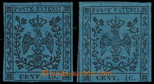167569 - 1852 Sas.10a, 10g, Znak 40C modrá, CHYBOTISK 49 namísto 40,