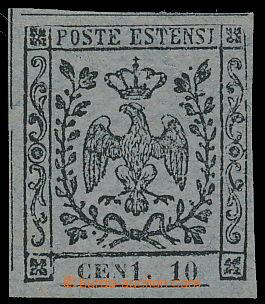 167571 - 1855-1857 Sas.4b, novinová Znak 10C šedofialová, CHYBOTISK C