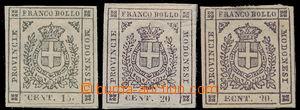 167572 - 1859 Sas.14e,16e, 16c, vydání Provizorní vlády, Znak 15C s D