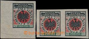 167673 - 1914 NEVYDANÁ - Znak 50Cts Indenpendance Albanaise, 2-páska