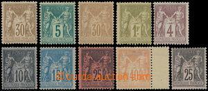 167675 - 1876-1886 Mi.64I,II, 65II, 59II, 67II, 71-74, 80, Alegorie 1