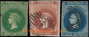 167677 - 1855 SG.1-3, Viktorie 1P tmavě zelená, 2P tmavě růžovočerven