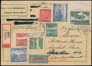 167706 - 1939 R+let- dopisnice Znak (přelep) zaslaná do Německa, s bo