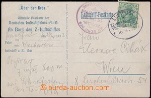 167761 - 1913 LZ 11, VIKTORIA LUISE  reklamní pohlednice adresovaná