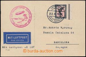 167772 - 1929 MITTELMEERFAHRT 1929  Let-lístek do Španělska, vyfr.
