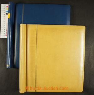 167782 -  SHAUBEK  2ks pérových desek; modrá a žlutá barva, zachovalý