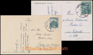 167790 - 1939 2 pohlednice vyplacené souběžně platnými zn., jednoznám