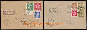 167814 - 1943-44 sestava 2ks R-dopisů se smíšenou frankaturou německý