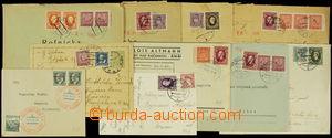 167838 - 1939 sestava 10ks celistvostí se smíšenými frankaturami čsl.