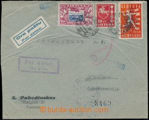 167841 - 1938 firemní Let-dopis zaslaný do ČSR, vyfr. smíšenou franka