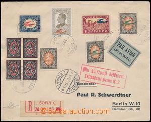 167866 - 1928 SOFIA - BERLIN, R+Let-dopis zaslaný do Německa, vyfr. m