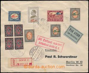 167867 - 1928 SOFIA - BERLIN,  R+Let-dopis zaslaný do Německa, vyfr.