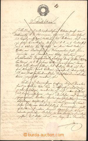 167873 - 1847 FERDINAND V./  dlužní úpis na více než 6.000Zl, tištěný