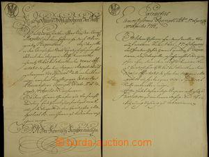 167874 - 1752 HABSBURSKÁ MONARCHIE/ MARIE TEREZIE/  listina vybavená
