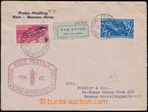 167888 - 1934 1. let ŘÍM - BUENOS AIRES, Let-dopis zaslaný do Argenti