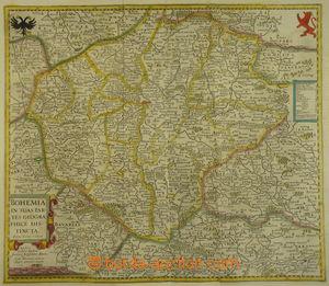 167967 - 1640 MAPA ČESKÉHO KRÁLOVSTVÍ  mapa Čech, autor Jan Janssoniu