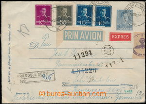 167982 - 1943 postal stationery cover sent as Reg, express and airmai