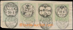 168054 - 1854 FJ I./  výstřižek s mimořádnou frankaturou kolků emise
