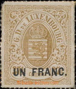 168066 - 1872 Mi.25, Znak 1Fr/37½C, průpich; velmi pěkný kus s l