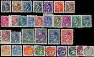 168106 - 1945 BOUZOV  sestava 32ks s přetiskem ČSR, A.H. 10h-50K a II