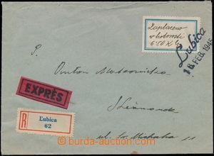 168207 - 1945 R+Ex-dopis do Kežmarku, vyplaceno hotově, provizorní ra