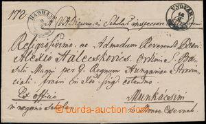 168238 - 1852 UNGVÁR  skládaný Ex offo dopis zaslaný z Užhorodu do Mu