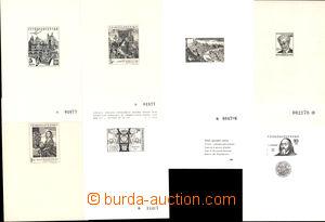 168294 - 1962-92 PT1, 2, 3, 4, 7c, 10a, 24,  sestava 7ks černotisků