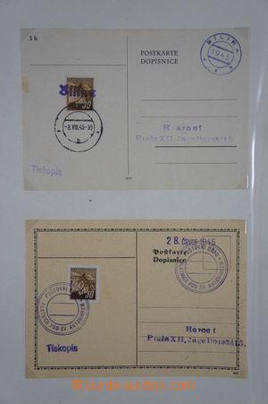 168395 - 1945 [SBÍRKY]  sbírka 82ks dopisnic s provizorními a znárodn
