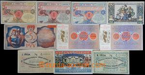 168406 - 1920-33 ČSR I.  sestava 10 losů, mj. II. věcná loterie Spolk