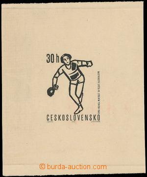 168419 - 1963 ZT  Pof.1285, Sport - stolní tenis 30h, zkusmý tisk - o
