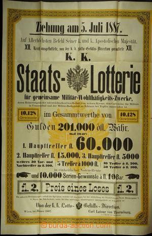 168425 - 1887 RAKOUSKO-UHERSKO/  LOTERIJNÍ PLAKÁT  2ks velkoformátový