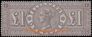 168466 - 1877 SG.Spec. L236, Telegrafní 1 Libra hnědo-fialová, TD 1,