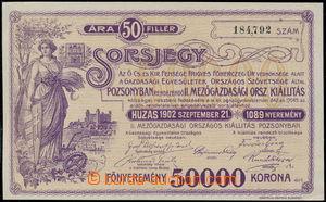 168582 - 1902 RAKOUSKO-UHERSKO  výherní los II. polnohospodárské výst